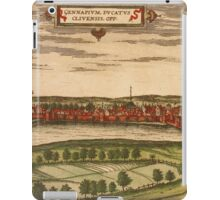Gennep Vintage map.Geography Netherlands ,city view,building,political,Lithography,historical fashion,geo design,Cartography,Country,Science,history,urban iPad Case/Skin
