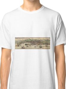 Genova Vintage map.Geography Switzerland ,city view,building,political,Lithography,historical fashion,geo design,Cartography,Country,Science,history,urban Classic T-Shirt
