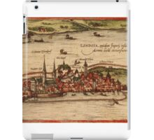 Lindau Vintage map.Geography Germany ,city view,building,political,Lithography,historical fashion,geo design,Cartography,Country,Science,history,urban iPad Case/Skin