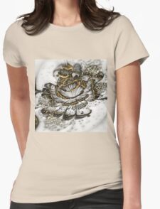 Golden Flower - Abstract Fractal Artwork Womens Fitted T-Shirt