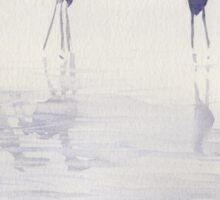 Echassiers dans la brume Sticker