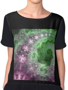 Swirly Universe - Abstract Fractal Artwork Chiffon Top