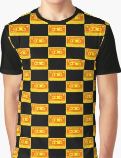 Psychedelic Mix Tape - Orange and Yellow Graphic T-Shirt