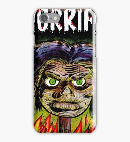 Horrific Shrunken head comic cover iPhone Case/Skin
