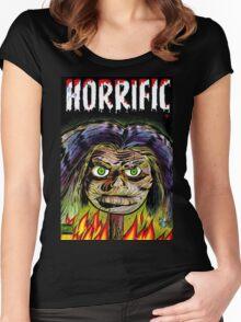 Horrific Shrunken head comic cover Women's Fitted Scoop T-Shirt