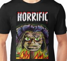 Horrific Shrunken head comic cover Unisex T-Shirt
