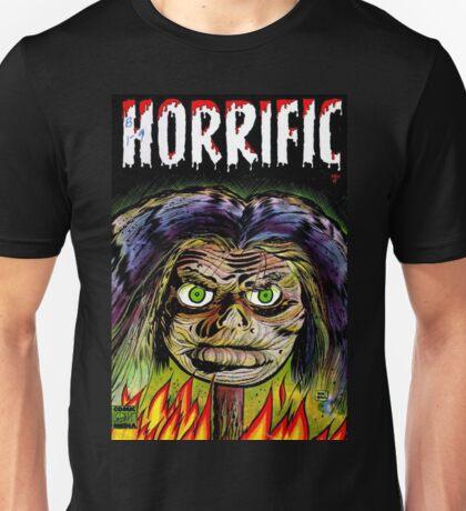 Horrific Shrunken head comic cover Unisex T-Shirt
