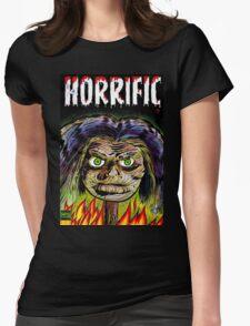 Horrific Shrunken head comic cover Womens Fitted T-Shirt
