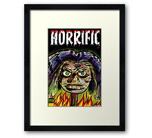 Horrific Shrunken head comic cover Framed Print