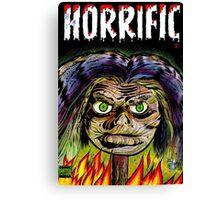 Horrific Shrunken head comic cover Canvas Print