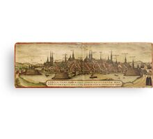 Lubeck Vintage map.Geography Germany ,city view,building,political,Lithography,historical fashion,geo design,Cartography,Country,Science,history,urban Metal Print