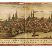 Lubeck Vintage map.Geography Germany ,city view,building,political,Lithography,historical fashion,geo design,Cartography,Country,Science,history,urban Sticker