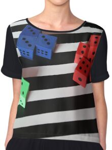 Counting Dice Chiffon Top