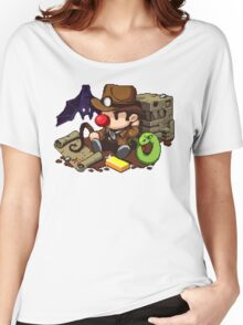Spelunky guy, bat, snake and map! Women's Relaxed Fit T-Shirt