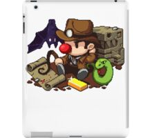 Spelunky guy, bat, snake and map! iPad Case/Skin