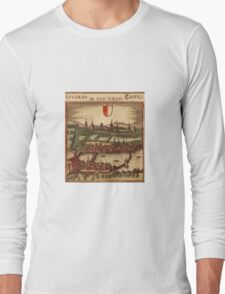 Luzern Vintage map.Geography Switzerland ,city view,building,political,Lithography,historical fashion,geo design,Cartography,Country,Science,history,urban Long Sleeve T-Shirt