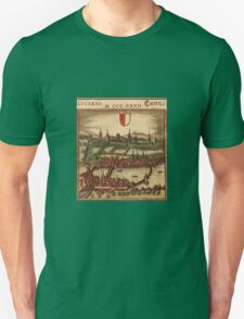 Luzern Vintage map.Geography Switzerland ,city view,building,political,Lithography,historical fashion,geo design,Cartography,Country,Science,history,urban Unisex T-Shirt