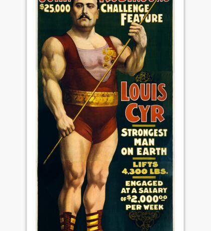 Strongest Man On Earth - Vintage Strongman Sticker