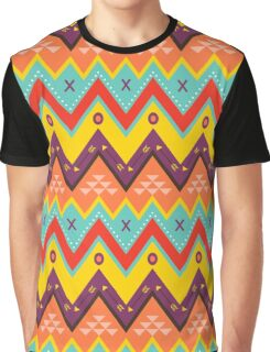 Zig zag ethnic pattern Graphic T-Shirt