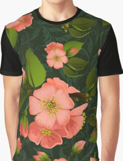 Floral background Graphic T-Shirt