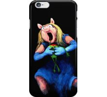 Miss Piggy Devouring Kermit iPhone Case/Skin