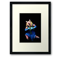 Miss Piggy Devouring Kermit Framed Print