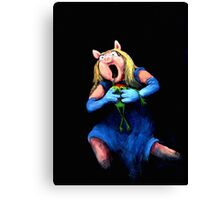 Miss Piggy Devouring Kermit Canvas Print