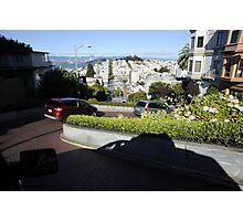 Traveling Down Lombard Street Photographic Print