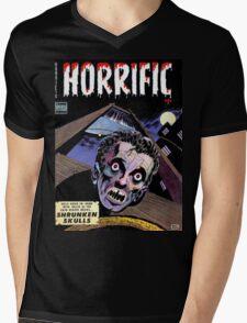 Horrific Tales comic cover Mens V-Neck T-Shirt