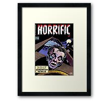 Horrific Tales comic cover Framed Print