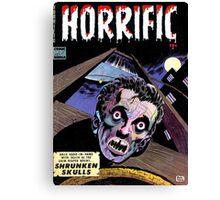 Horrific Tales comic cover Canvas Print
