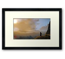 The Witcher: Geralt, the Lone Wolf Framed Print