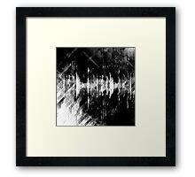 abstract  wave bw Framed Print