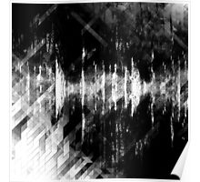 abstract  wave bw Poster