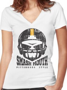 SMASH MOUTH FOOTBALL (vintage) Women's Fitted V-Neck T-Shirt