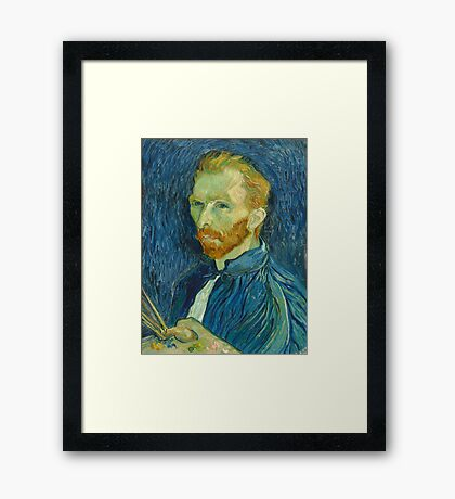 Vincent, Van Gogh, Self Portrait, 1889, Artist, Art, Painter, Oils, Canvas Framed Print