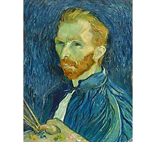 Vincent, Van Gogh, Self Portrait, 1889, Artist, Art, Painter, Oils, Canvas Photographic Print