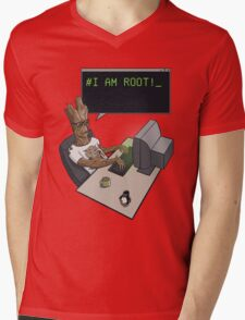 I am Root Mens V-Neck T-Shirt