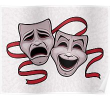 Comedy And Tragedy Theater Masks Poster