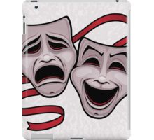 Comedy And Tragedy Theater Masks iPad Case/Skin