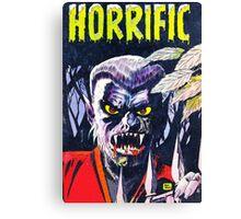 Horrific Tales Werewolf monster comic cover Canvas Print