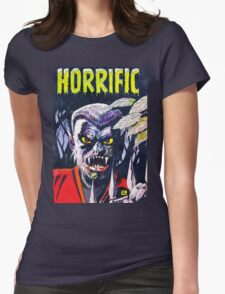 Horrific Tales Werewolf monster comic cover Womens Fitted T-Shirt