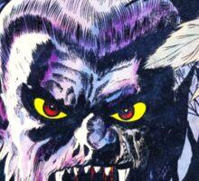 Horrific Tales Werewolf monster comic cover Sticker