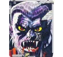 Horrific Tales Werewolf monster comic cover iPad Case/Skin