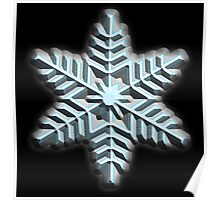 ICE, SNOWFLAKE, Cool, Snow, Snow crystals, Winter, Cold, Ice Crystal, Frozen, Freeze Poster