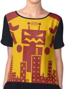 Robot Attack Chiffon Top