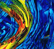 Colorful Abstract Art - Energy Flow 2 - By Sharon Cummings by Sharon Cummings
