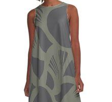 orb (gray) A-Line Dress