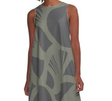 orb (gray) A-Line Dress