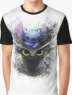 Baby Toothless Dragon and Stitch Graphic T-Shirt